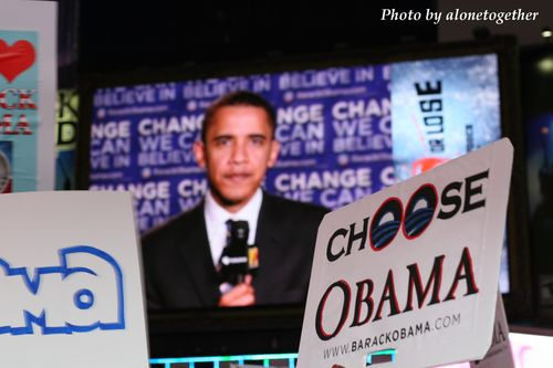 Obama in Times Square