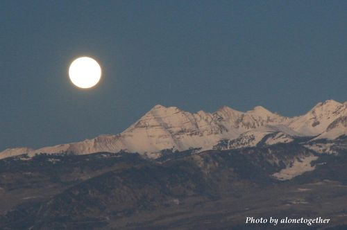 Full Moon - a view from Mesa Verde National Park